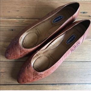 Dr. Scholl's Deanna woven leather low wedges Sz 11